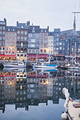 The Looking Glass - Honfleur France Art Print