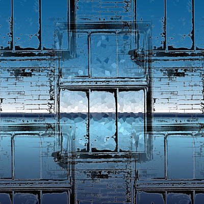 Glass Wall Digital Art - The Looking Glass Reprised by Tim Allen