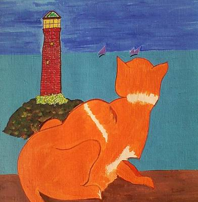 Painting - The Lookout by Lew Griffin