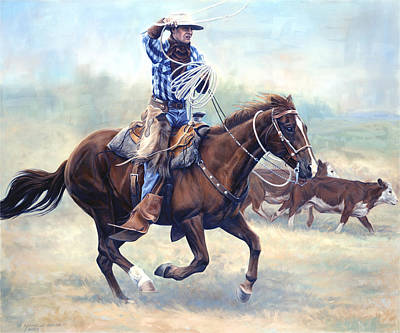 Rodeo Painting - The Loop by JQ Licensing