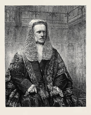 Chancellor Drawing - The Lord Chancellor by English School