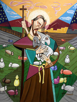 Holy Digital Art - The Lord Is My Shepherd by Anthony Falbo
