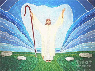 The Lord Is My Shepherd Eee011 Art Print by Daniel Henning
