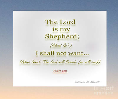 Mixed Media - The Lord Is My Shepherd... by Monica C Stovall