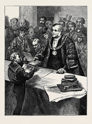 Lord Drawing - The Lord Mayor And The Reclaimed Street Arabs by English School