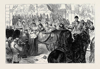 Lord Drawing - The Lord Mayor Presenting The City Sword To The Queen by English School