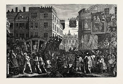 Lord Drawing - The Lord Mayors Show After Hogarth by English School