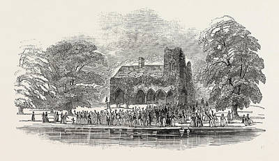 Lord Drawing - The Lord Mayors View Of The Thames Medmenham Abbey by English School