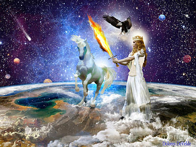 Lightning Digital Art - The Lords Handmaiden by Dolores Develde
