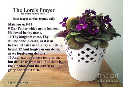 Photograph - The Lords Prayer by Bible Verse Pictures