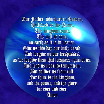 The Lords Prayer Art Print by Daryl Macintyre