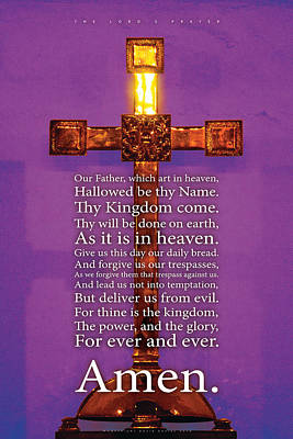 Photograph - The Lord's Prayer by David Davies