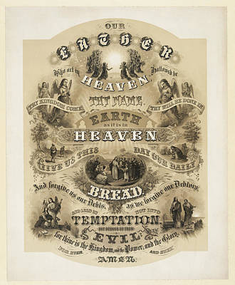 The Lords Prayer Art Print by Bill Cannon