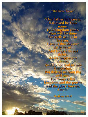 Photograph - The Lords Prayer by Glenn McCarthy Art and Photography