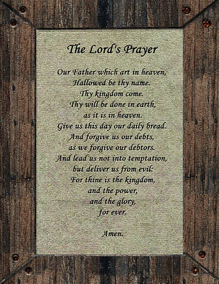 The Lord's Prayer Art Print by Tikvah's Hope