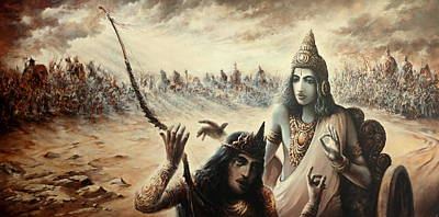 Mahabharata Painting - The Lord's Song by Rahju