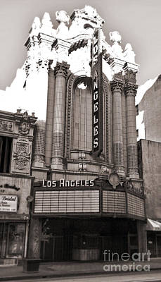 The Los Angeles Theatre - Black And White Art Print by Gregory Dyer