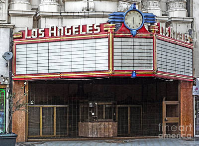 The Los Angeles Theatre Marquee Art Print by Gregory Dyer