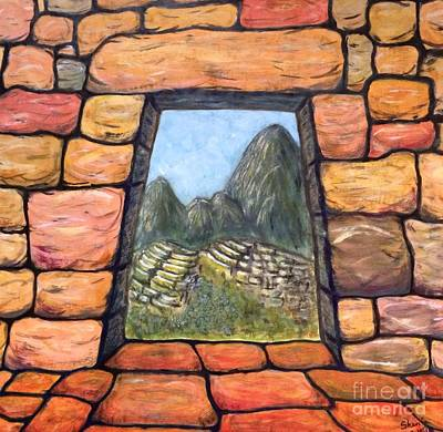 Machu Picchu Painting - The Lost City by Sara  Maria