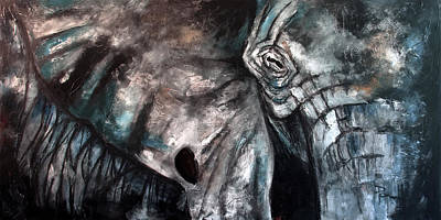 Painting - The Lost Elephant by Sean Parnell