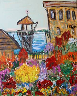 Art Print featuring the painting The Lost Gardens Of Alcatraz by Mary Carol Williams