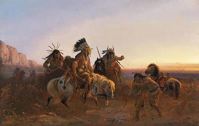Western Art Digital Art - The Lost Trail by Karl Ferdinand Wimar