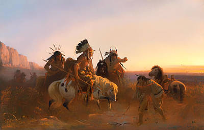 Hunting Party Painting - The Lost Trail by Mountain Dreams