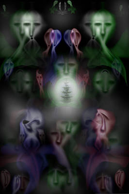 Many Faces Digital Art - The Lost Tree by DC Bursey