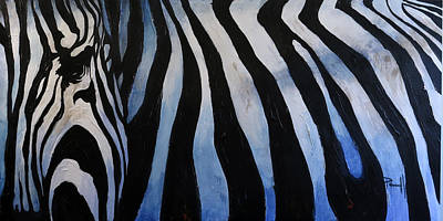 Painting - The Lost Zebra by Sean Parnell