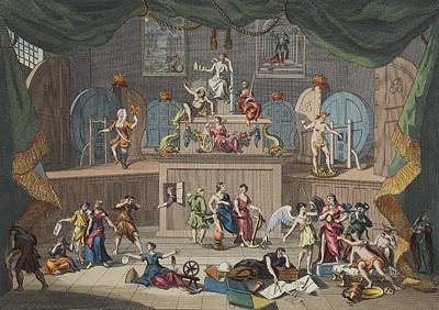 Satire Wall Art - Drawing - The Lottery, Illustration From Hogarth by William Hogarth