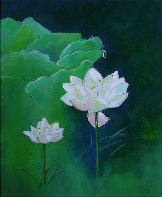 Painting - The Lotus by Gloria Dietz-Kiebron
