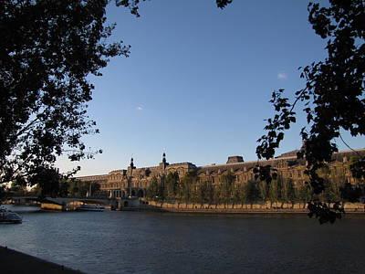 Lourve Photograph - The Lourve On The Seine by Nicholas Nebelsky