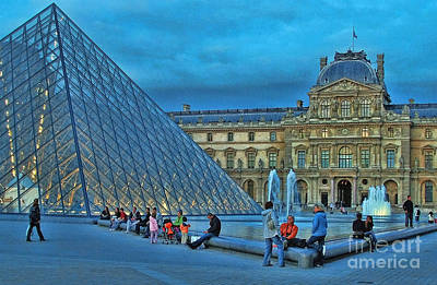 Photograph - The Louvre 2 by Allen Beatty