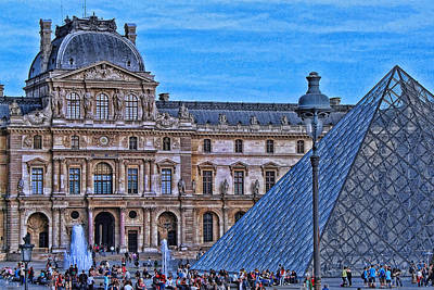 Photograph - The Louvre 3 by Allen Beatty