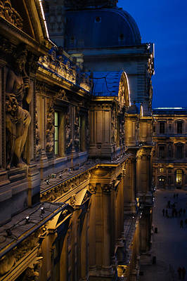 Photograph - The Louvre - A Royal Palace - A Museum - An Architectural Marvel by Georgia Mizuleva