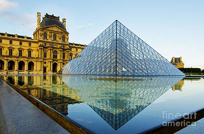 Photograph - The Louvre At Dawn by MaryJane Armstrong