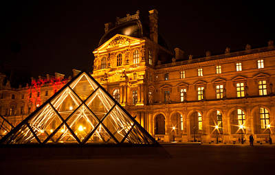 Photograph - The Louvre At Night by Anthony Doudt