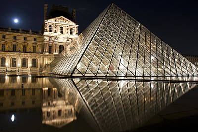 Photograph - The Louvre At Night by Nathan Rupert