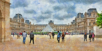 Digital Art - The Louvre Museum In Paris by Digital Photographic Arts