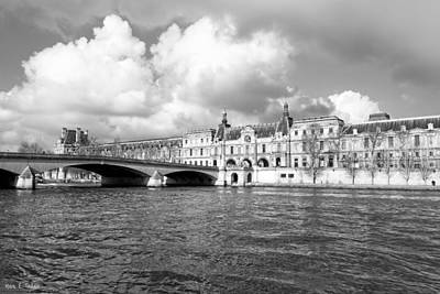 Photograph - The Louvre Palace Overlooking The River Seine by Mark E Tisdale