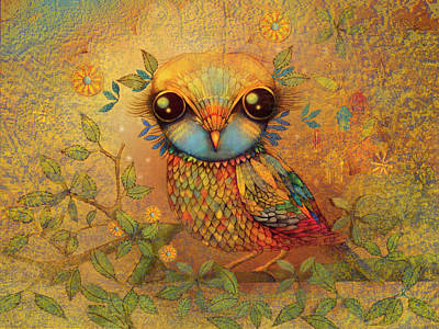 Painting - The Love Bird by Karin Taylor