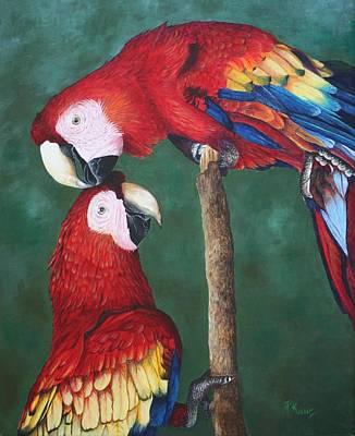 The Love Birds Art Print by Pam Kaur