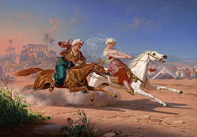 Horse Racing Painting - The Love Chase by Charles Christian Nahl