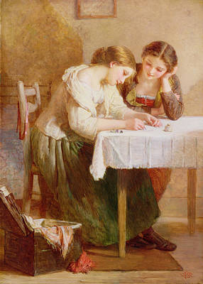Sit-ins Painting - The Love Letter, 1871 by Henry Le Jeune