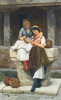 Eugen Von Blaas Painting - The Love Letter by Celestial Images