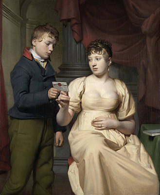 The Love Letter, Willem Bartel Van Der Kooi Art Print by Litz Collection