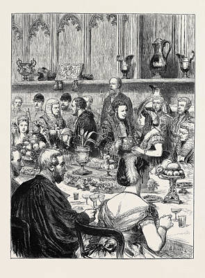 The Loving Cup A Sketch At The Lord Mayors Banquet Art Print by English School