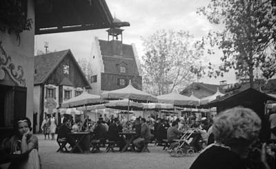Photograph - The Lowenbrau German Beer Garden  by John Schneider