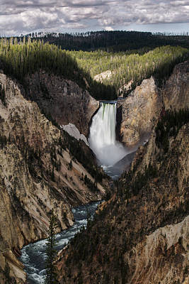 Acrylic Photograph - The Lower Fall by Jon Glaser