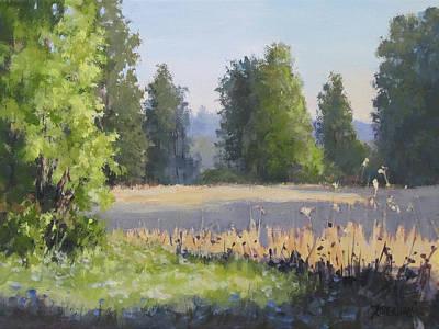 Painting - The Lower Field by Karen Ilari